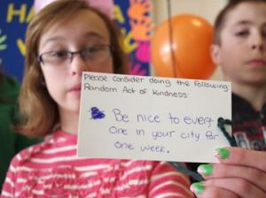 Courtney Ormerod shares her random act of kindness.